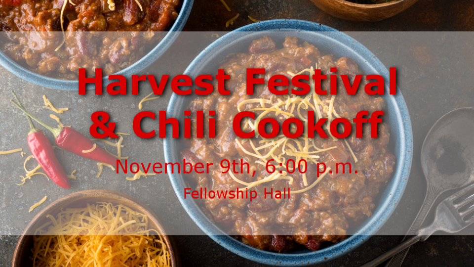 Harvest Festival & Chili Cookoff
